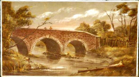 Witton Bridge - 19th-century painting on glass on the Birmingham Images website - item in Birmingham Museum and Art Gallery