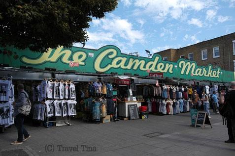 Camden lockt mit unzähligen Marktständen und Hippie-Läden.