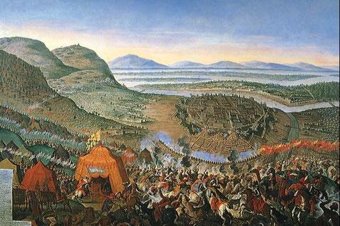 Zeitgenössisches Gemälde der Belagerung Wiens von 1683 (Wikipedia)