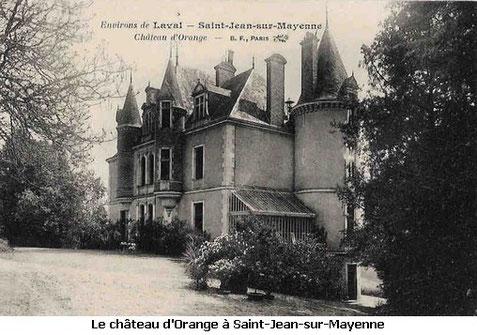 château d'Orange Saint-Jean-sur-Mayenne