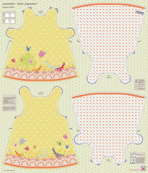 Schnittmuster Kinderkleid - musterkitz Stoffpanel