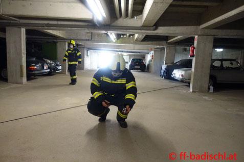 Feuerwehr; Blaulicht; FF Bad Ischl; Gasgeruch; Oldtimer; Tiefgarage;