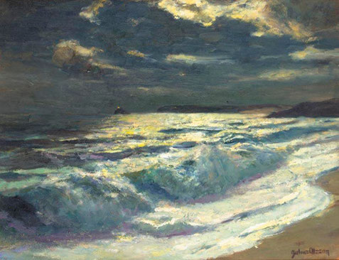 Julius Olsson                   Moonlight, St Ives Bay