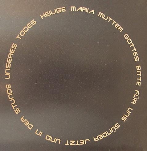 Schriftzug Rosenkranz
