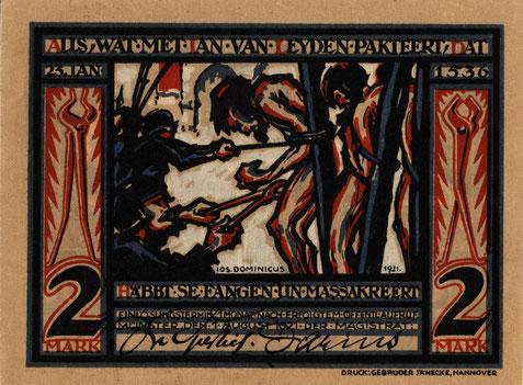 Notgeld vom 1.8.1921 mit Täufer-Motiv