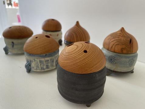 FUTAMONO-YAの新作。陶芸家森下真吾と木工作家清水泰のコラボレーションブランド「FUTAMONO-YA」。