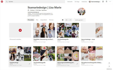 Screenshoot meiner Pinterest Pinnwände