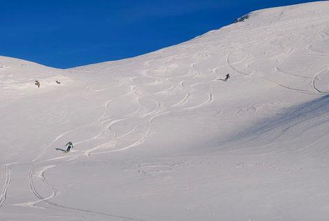 Skitour Piz d'Emmat Dadaint, Piz da las Coluonnas, Julierpass, Graubünden, Leg Grevalsalvas, öv, Bivio, Engadin, Piz da las Coluonnas