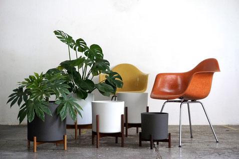 Planter, Urbanjunglebloggers, Design, Blumentöpfe, Blumentopf, Plant Stand, Eames, Mid Century, Herman Miller, Vitra, Designklassiker, Produktdesign,