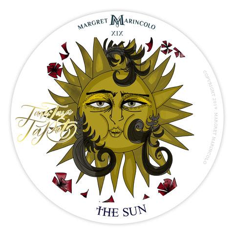 Tarotkarte die Sonne - Tageskarte