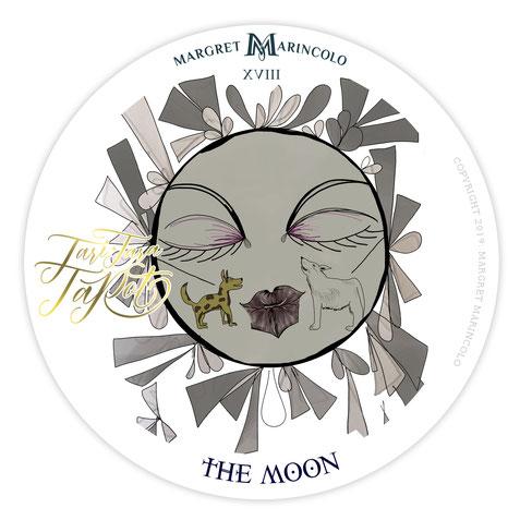 Tarotkarte der Mond - Tageskarte