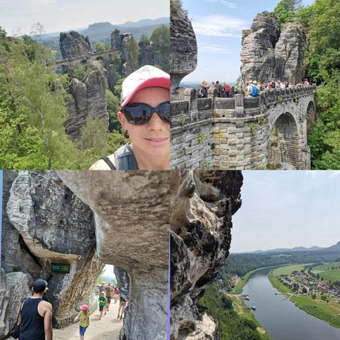 Bastei Brücke Fähre Aussicht Sehenswürdigkeiz Lilienstein Treppen Felsformation Sandstein Brücke