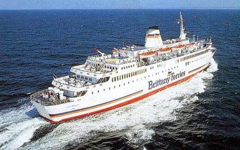 MV Reine Mathilde, ancien MV Prince of Brittany en pleine mer.