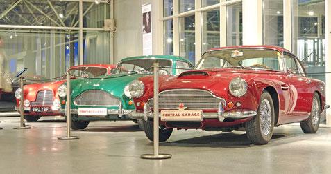 """""""100 Jahre Aston Martin"""" - Ausstellung in der """"Central Garage"""""""