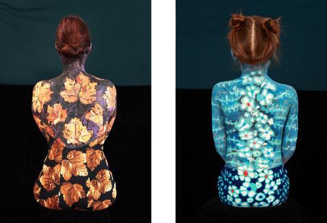Abb.: Sabine Dehnel, l. ANNA und r. VASE III, 2019, pigment inkjet print, 100 x 70 cm