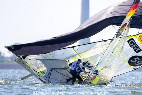 Niklas und Justus beim Crash in Medemblik