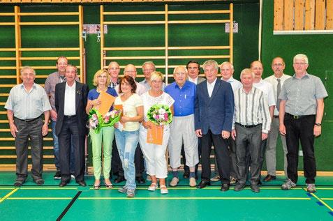 Die Jubilare der DJK Hockenheim