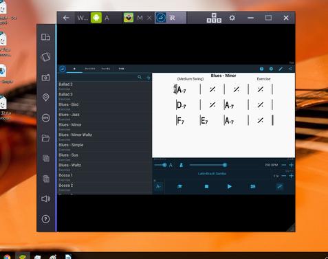 PC上でもiReal Pro(Android)を開ける、画面も大きいので◎そのままモニターしながら練習できる