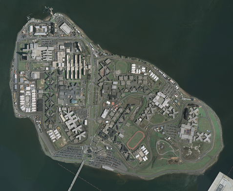 Rikers Island prison complex (New York; source Wikipedia)