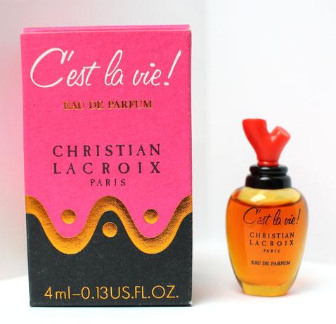 CHRISTIAN LACROIX - C'EST LA VIE ! - MINIATURE EAU DE PARFUM 4 ML - PETIT MODELE