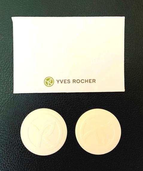 YVES ROCHER - 2 CERAMIQUES RONDES IDENTIQUES