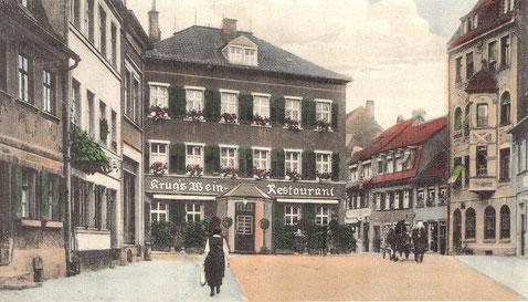 Restaurant/Weinstube Krug um 1925