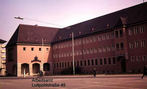 Altes Arbeitsamt in der Luitpoldstraße 45