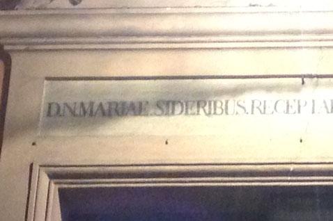 D.N. MARIAE SIDERIBUS  (Nostra Signora Maria delle Stelle)
