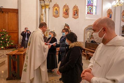 Traubach - Dimanche 3 janvier 2021 - Envoi en mission des membres de l'EAP par le vicaire épiscopal Marc Schmitt
