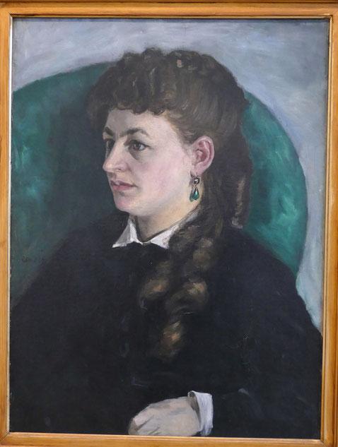 Pierre Auguste Renoir : portrait de Clémence Tréhot dite Mme Jules Le Cœur, 1866