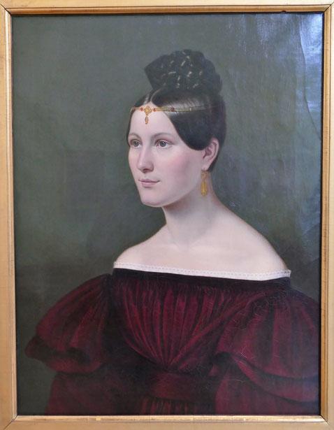 Emilie Linder : portrait de la Baronne Auguste von Eichthal, vers 1835