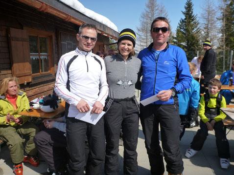 Kurt und Thomas mit Obfrau Karin Amann