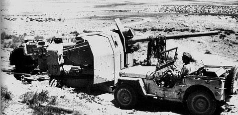 Nur wenige Geschütze der motorisierten Batterie wurde z.B.durch Rohrkrepierer nachhaltig zerstört.