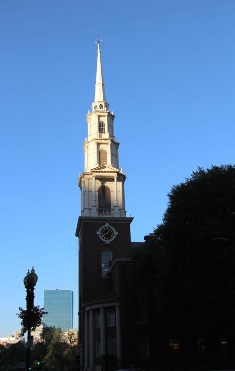 Die Park Street Church ist ein historischer Bestandteil des Freedom Trail.