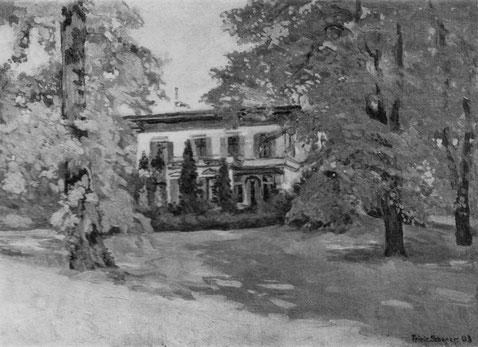 Haus der Familie Sauber ab 1882 der Kurvenstraße im Wandsbeker Marienthal