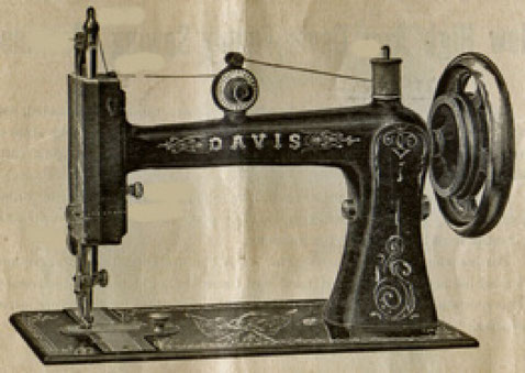 1885  Davis Treadle Model 4