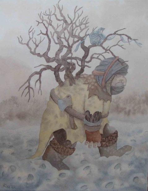 chant des champs de neige-50x65