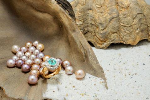 Perlen, Diamanten, Emotionsdiamanten für ihr Weihnachtsgeschenk