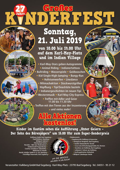 Plakat Kinderfest Karl-May-Spiele