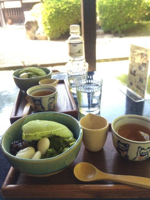 松江と云えばお茶どころ。お抹茶餡蜜 美味しかった