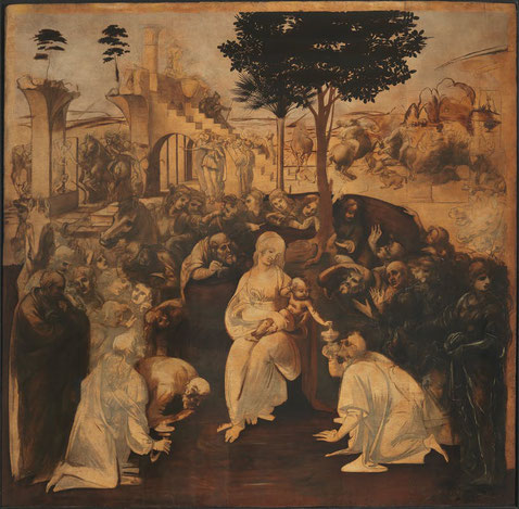 Поклонение волхвов - самые известные картины Леонардо да Винчи