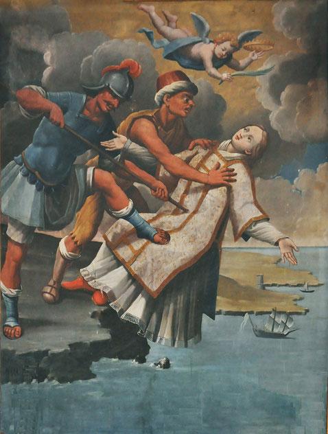 Tallone - Eglise Saint-Césaire - Martyre de Saint-Césaire (Francesco Carli)