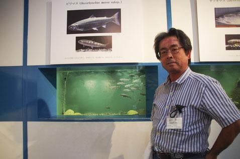 小誌の連載「琵琶湖の魚の不思議と謎」を執筆いただいている桑原先生が、展示を監修されています!