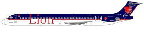 Mindestens eine MD-82 wurde tatsächlich in der alten Bemalung von Lion Air vorgestellt/Courtesy and Copyright: md80design
