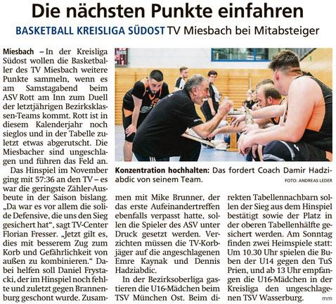 Artikel im Miesbacher Merkur am 8.2.2020 - Zum Vergrößern klicken