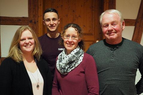 Vorstandschaft des »Reubacher Sommertheaters«, 2019 (v.l.n.r.): Carolin Hinsche, David, Seeger, Simone Muley, Bernd Zugck