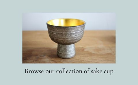 a collection of sake cup
