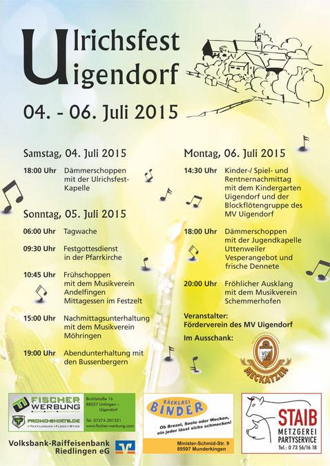 Plakat Ulrichsfest 2015