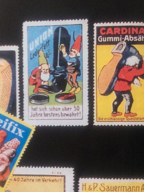 Reklame Zwerge im 19. Jahrhundert