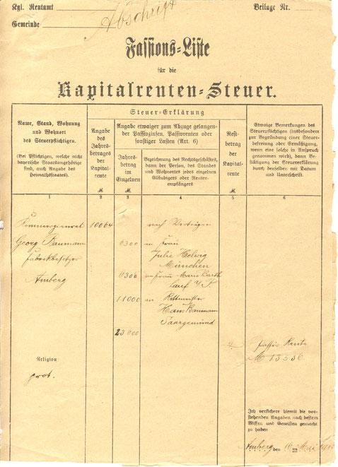 1911 Kapitalrentensteuer